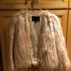 Fur waist length coat